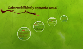 Gobernabilidad y armonía social