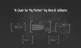 """A Chair for My Mother"" by Vera B. Williams"