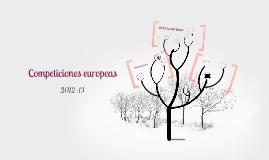 Competiciones europeas 2012-13