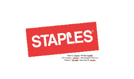 Staples Strategic Management Presentation