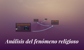 Analisis del fenomeno religioso