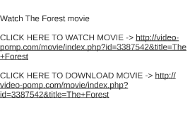 Watch The Forest movie