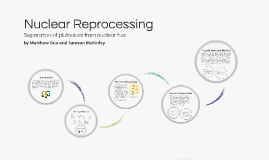 Nuclear Reprocessing