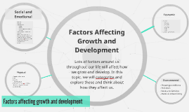Factors Affecting Growth and Development