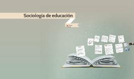 Sociología de educación