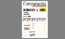 comparación de la composición de los diarios ABC & ULTIMA HORA.