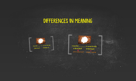 DIFFERENCES IN MEANING (AP2)