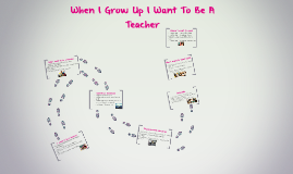 When I grow up I want to be a teacher