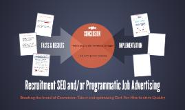 Recruitment SEO and/or Programmatic Job Advertising