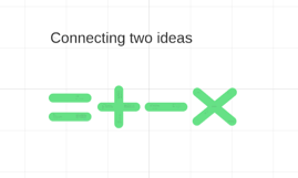 Connecting two ideas