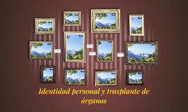 Identidad personal y trasplante de órganos