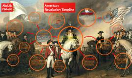 American Revolution Timeline.