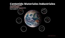 Copy of Materiales Industriales