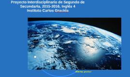 Proyecto de Segundo de Secundaria, Inglés