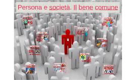 65. Persona e società. Il bene comune