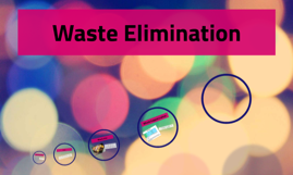 waste elimination A commonly used definition of lean is the total elimination of waste (time, resources, energy, etc) but what is the purpose of this does the purpose matter.