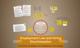 Copy of Employment Law and Hiring Discrimination