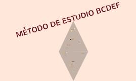 MÉTODO BCDEF
