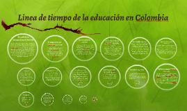Linea de tiempo de la educación en colombia