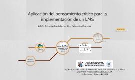 Aplicación del pensamiento crítico para la implementación de un LMS