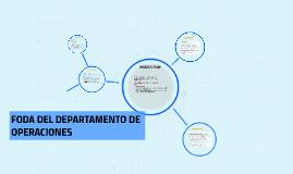 FODA DEL DEPARTAMENTO DE OPERACIONES