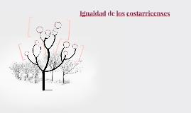 Igualdad de los costarricenses
