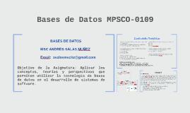 Bases de Datos MPSCO-0109