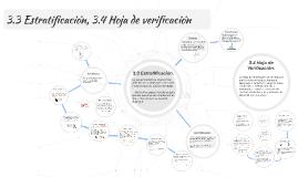 3.3 Estratificación, 3.4 Hoja de verificacion