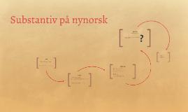 Substantiv på nynorsk