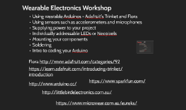 Wearable Electronics Workshop