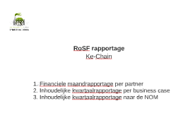 RoSF rapportage