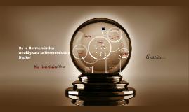 Hermenéutica digital- Coloquio de filosofía