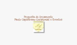 PAULO CAPISTRANO CERIMONIAL E EVENTOS