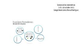 Ecuaciones Posmodernas :