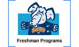 freshman programs