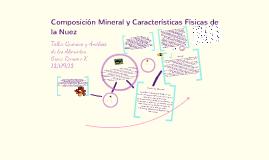 Copy of Composición Mineral y Características Físicas de la Nuez