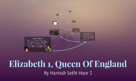Elizabeth 1, Queen Of England