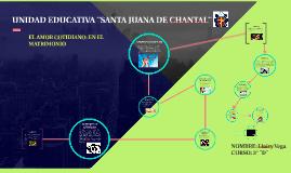 UNIDAD EDUCATIVA ¨SANTA JUANA DE CHANTAL¨