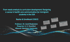 From needs analysis to curriculum development: designing a c