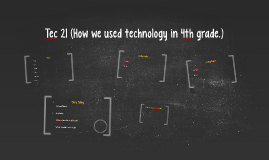 Tec 21 (How we used technology in 4th grade.)