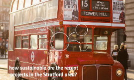 how sustainable are the recent projects in the Stratford are