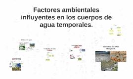 Factores ambientales influyentes en los cuerpos de agua temp