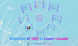 The Rebellion of 1837 in Lower Canada