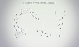 Generation of Programming Languages