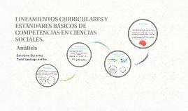 LINEAMIENTOS CURRICULARES Y ESTÁNDARES BÁSICOS DE COMPETENCIAS