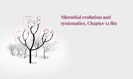 Copy of Microbial evolution and systematics, Chapter 12