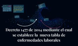Decreto 1477 de 2014 mediante el cual se establece la  nueva