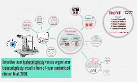 Copy of Selective laser trabeculoplasty versus argon laser trabeculo