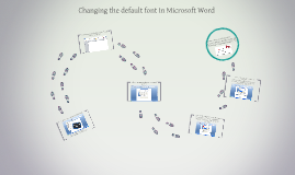 Changing the default font in Microsoft Word