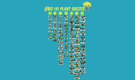 UW-Stout Bio 141 Plant Quizzes